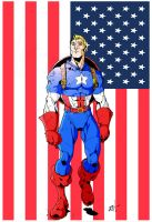 Rays Captain America Coloured by tyrannus