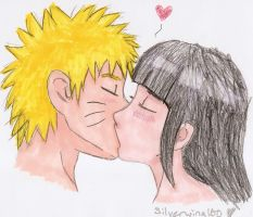NaruHina, I love you.colored. by Silverwing100