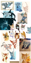 Big ol art dump by Finchwing