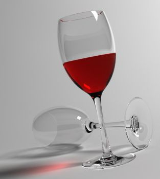 3D Wine Glass by UnKnOwN-DA