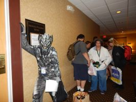 Me in line for Frank Welker's Autograph by transformersnewfan