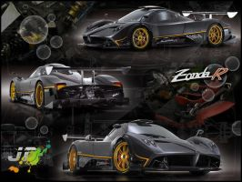 Pagani Zonda R Wallpaper by Joel-Design
