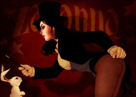 Zatanna performing magic.. by Arioanindito