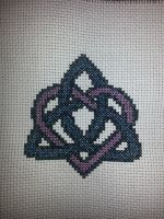 Triquetra Celtic Knot Heart by Sew-Madd
