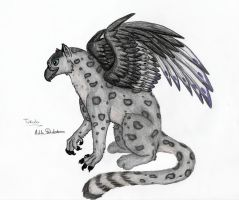 Snow Leopard Griffin by Mykoto