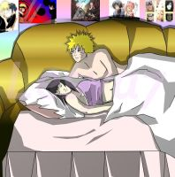 Naruto and Hinata in bed by Lesya7