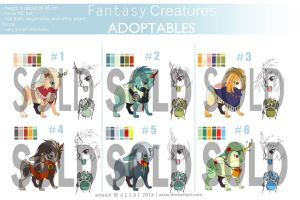 fantasy creatures adoptable CLOSED by azzai