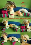 Life size (laying down) Applejack plush SOLD by agatrix