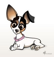 Jack Russell Chihuahua Cartoon by timmcfarlin