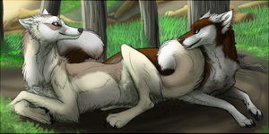 Commission- resting in the shade by TallestSky