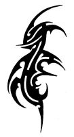 Tribal Tattoo 16 - BlackdragoN by amir-malka