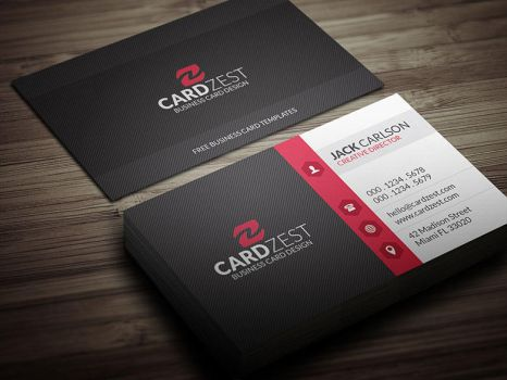 Clean Diagonal Lines Corporate Business Card PSD by mengloong