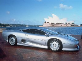 Jaguar XJ-220 Silver by TheCarloos