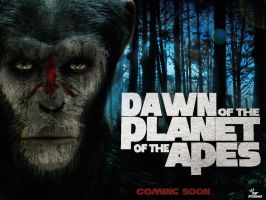 Dawn of the apes movie poster hd by PFDesigns