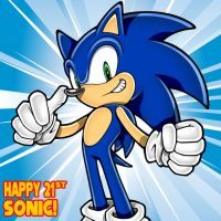 Happy 21st, Sonic! by Mace66VW