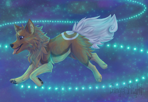 Through a sea of stars by GingerFlight