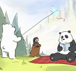 [ANIMATION - GIF] We Bare Bears (And Chloe) by rodgealeria