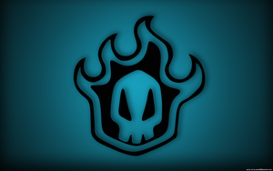 Bleach skull blue by cmark0