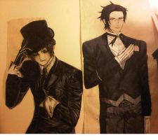 hatter and claude by migz7