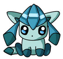 Chibi Glaceon by sim-pie