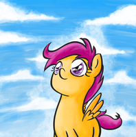 Scootaloo I guess by alskylark