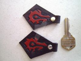 WoW Horde Leather Keychains by ElementalxGaze