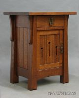 Stunning Mackintosh Nightstand by DryadStudios