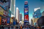 Autumn sky over Times Square - dedicated to Janan by Rikitza