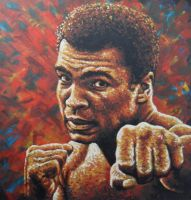 Muhammad Ali Punch Painting by JonMckenzie