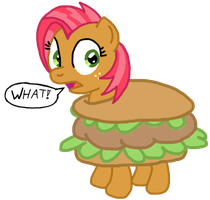 Babs Turns In To A Burger by wildtiel