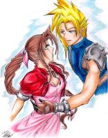 Cloud x Aeris Meant To Be by 7777Melis7777