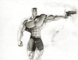 Big Guy With Gun by JIM-SWEET