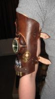 Steampunk upper arm part - front view by Firefly182