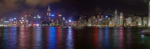 Hong Kong by Night by FrozenWhisperx