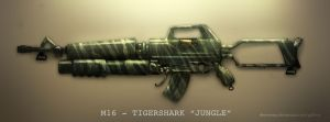 M16 - TIGERSHARK 'jungle' by dinmoney