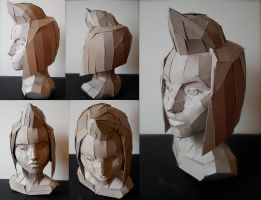 Paperboard Portrait by MachineGun-Baby