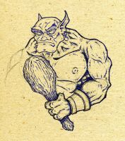 Ogre with Club by BillyJebens