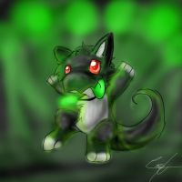 green rave by HauntedHomo