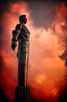Gagarin at fire by AlexWild