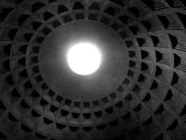 Pantheon Eye bw version by st2wok