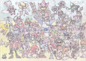 Sonic and Co - OLD by EUAN-THE-ECHIDHOG