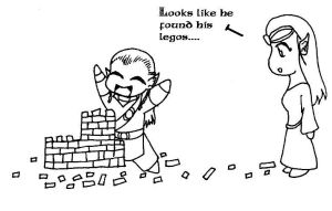 Legolas and his Legos by rinean1224