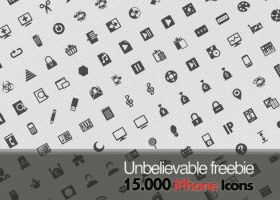 Unbelievable Freebie: 15.000 free iPhone icons by Iconshock