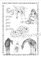 alphabet coloring pages Gg copy by jbeverlygreene