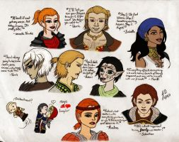 Dragon Age II Sketches colored by JessieReigne