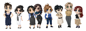 Pixel art - FMAOCA ladies by Ciorane