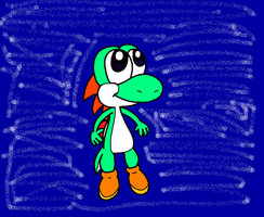 Yoshi In Space!! by Bomberdrawer