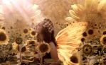Fairie Of The Sunflowers by VisualPoetress