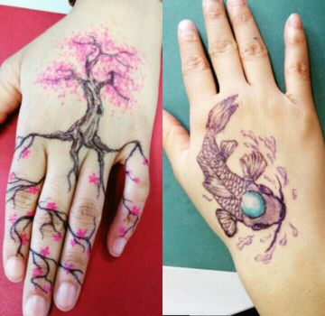 Hand tatoo by booksdust
