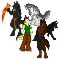 Werewolfs no background by NicholBarnes